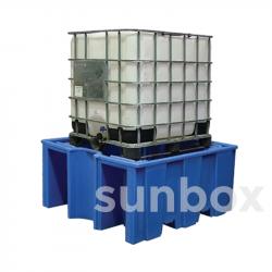 Cubeto de retención sin rejilla 1 cubicontenedor 1000litros