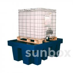 Cubeto de retención con rejilla 1 cubicontenedor 1000litros