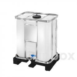 Depósito IBC 300L Natural con Palet Plástico - Homologado