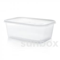 Caja rectangular de 2L con tapa