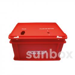 Caja para pilas roja (40x30x23,5cm)
