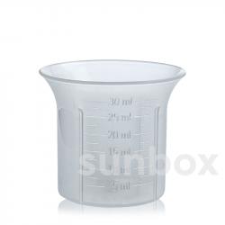 Vaso dosificador graduado de 30ml para tapón rosca